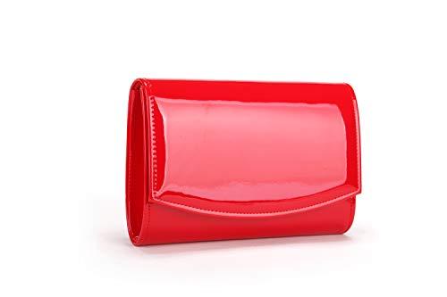 - Nodykka Evening Bag Clutch Purses For Women Patent Leather Handbags Party Wedding Envelope Solid Color Wallet
