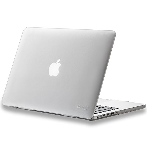 Kuzy - Older Version MacBook Pro 13.3 inch Case (Release 2015-2012) Rubberized Hard Cover for Model A1502 / A1425 with Retina Display Shell Plastic - FROST White/Clear