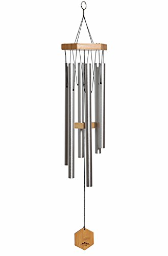 WIND CHIMES FOR PEOPLE WHO LIKE THEIR NEIGHBORS, Soothing Melodic Tones & Solidly Constructed Bamboo/Aluminum Chime, Great as a Quality Gift or to keep for Your own Patio, Porch, Garden, or Backyard.