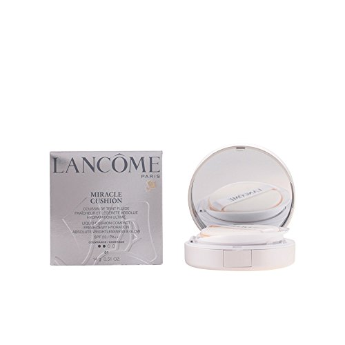 Lancome Miracle Liquid Cushion Compact Foundation SPF 23, PA++ No.01 Pure Porcelain, 0.51 - Foundation Liquid Lancome