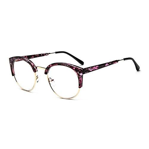 MOQQE Eyeglasses Glasses Frame Eyewear Fashion Cateye Round For Men and - Eyeglass Review Titanium Frames