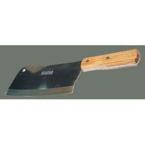 Winco Heavy Duty Cleaver Chopper Knife Blade Wooden Handle Stainless
