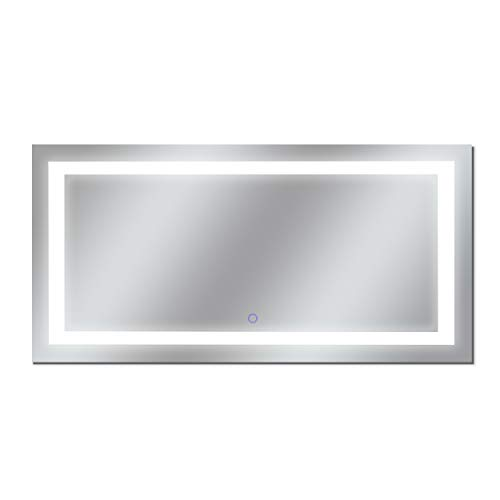 Dyconn Faucet M13AT7238T Edison Tri-Color LED Bathroom Vanity Mirror with Touch ON/Off -