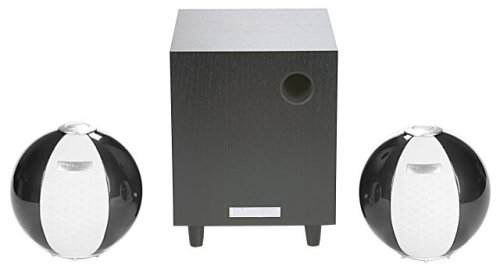 HANNspree Circus 2.1 Channel Speaker System - Dark Silver (KS05-21U1-001) by Hannspree