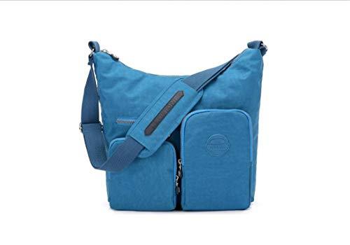 Nylon Tracolla Donna Impermeabile Borsa Blue All'usura Per A In Resistente Black FCw6Aaq