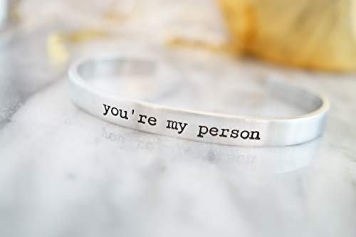 You're my Person Hand Stamped Cuff Bracelet