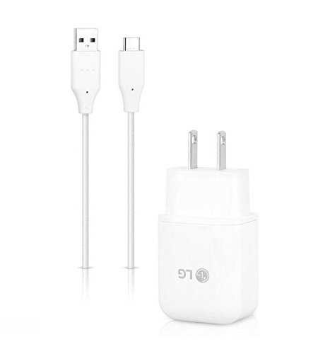 Genuine LG G6 V30 V20 G5 Charger + USB C Cable 18W QuickCharge 3.0 Certified by LG