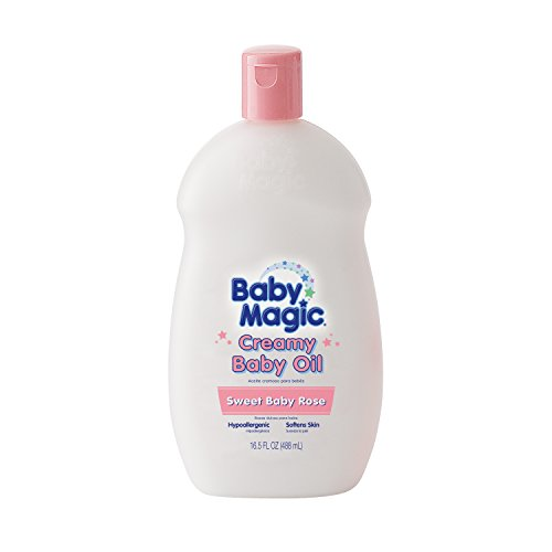 Baby Magic Creamy Baby Oil, Sweet Baby Rose, 16.5 Ounces (Pack of ()