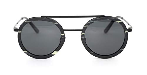 Óculos de Sol de Madeira e Metal Schultz Black, MafiawooD
