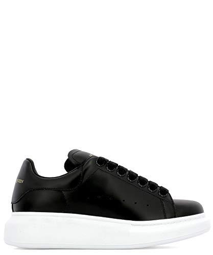 Alexander McQueen Women's 553770Whgp01000 Black Leather Sneakers