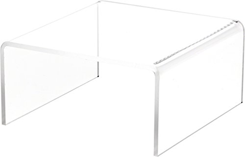 Plymor Clear Acrylic Short Square Display Riser, 3