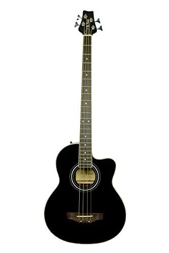 De Rosa GAB47 4 String Cutaway Acoustic-Electric Bass Guitar-BLACK ()