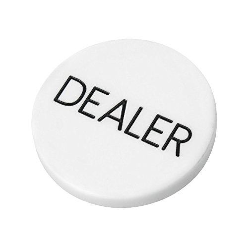 Lot of 10pcs 2'' White Plastic Dealer Poker Button By MRC by MRC