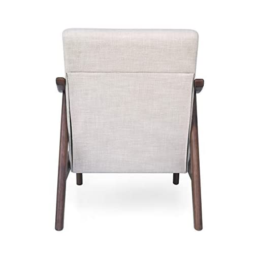 Farmhouse Accent Chairs Christopher Knight Home Aurora Mid-Century Modern Accent Chair, Beige, Brown farmhouse accent chairs
