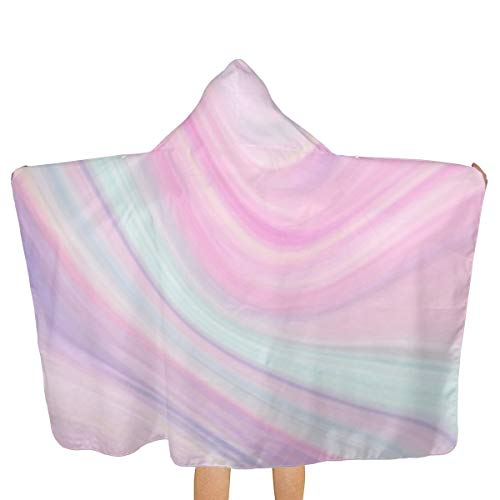 Aurora Marble Pattern Hooded Beach Towel for Adults Surf Poncho Robe Surf Beach Wetsuit with Hood Fast Drying Beach Towel