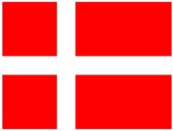 Amazon.com: (2x) Danmark Flag - Denmark - Red - Sticker - Decal - Die Cut:  Automotive