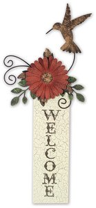Sunset Vista Designs Hummingbird Welcome Sign