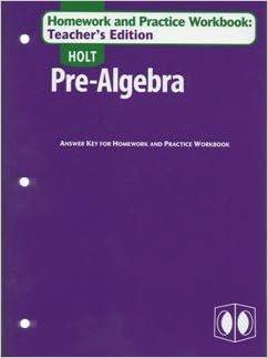 Pre-algebra homework practice workbook