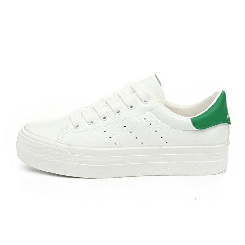 Zapatos con cordones Casualesesese/Zapatos de mujer/La versión coreana de zapatos de suela gruesa/Calzado transpirable/Zapatos ocasionales del estudiante E