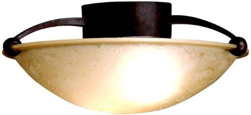 Kichler 8405TZ Semi-Flush 2-Light, Tannery Bronze