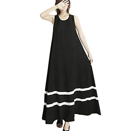Star Trek Mini Dress (BOLMI Women Casual O-Neck Sleeveless Long Dress Summer Sundress Sexy Lace Sling Solid Holiday Party Dress Mini)