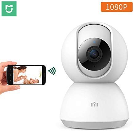 Xiaomi 360° Home Camera, 1080P HD Wireless IP Security Camera Pan/Tilt/Zoom Indoor Surveillance System with Night Vision, Motion Detection and Baby Crying Detection, Remote Monitor with iOS, Android