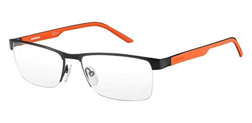 Carrera 8817 Eyeglass Frames CA8817-0PYZ-5617 - Matte Black / Orange Frame, Lens Diameter - Orange Eyeglasses
