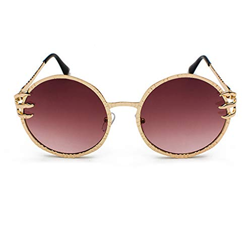 Piece Sunglasses for Fashion Eyewear Lens Protection Holiday Ocean C3 Eyeglasses Outdoor UV tea Sunglasses Gold Travel Men Round Metal Driving Frame Luxury Women Shopping Claw Frame Goggles rvFqr17