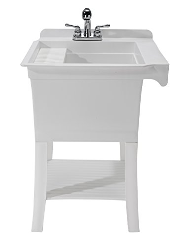 CASHEL 1980-32-01 The Maddox Workstation - Fully Loaded Sink Kit, White by CASHEL