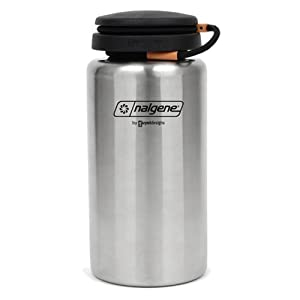nalgene stainless bottle 38 oz camping canteens sports outdoors. Black Bedroom Furniture Sets. Home Design Ideas