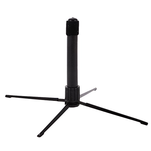 Black Portable Folding Flute Stand Bracket Rack Support Holder Accessory by MagiDeal (Image #9)
