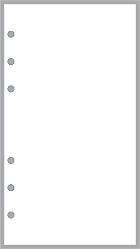 Personal Size Blank Pages Planner Insert, Sized and Punched for Filofax Personal Notebook (3.7