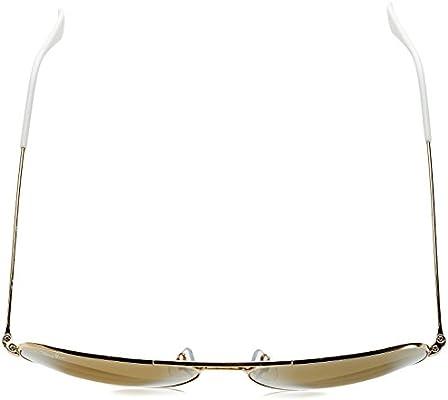 Ray-Ban Aviator Large Metal, Gafas de Sol Unisex Adulto, Dorado (Gold & Crystal Brown Mirror), 58