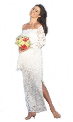 Nicole Michelle Maternity 2 Piece Maternity Wedding Gown X Large White by Nicole Michelle Maternity