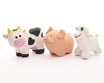 Natural de goma animales de granja por lanco (Set de 3 ...
