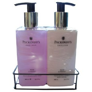 Pecksniffs Rose & Peony Hand Wash and Body Lotion Set 10.1 Fl Oz Each (Peony Apparel)