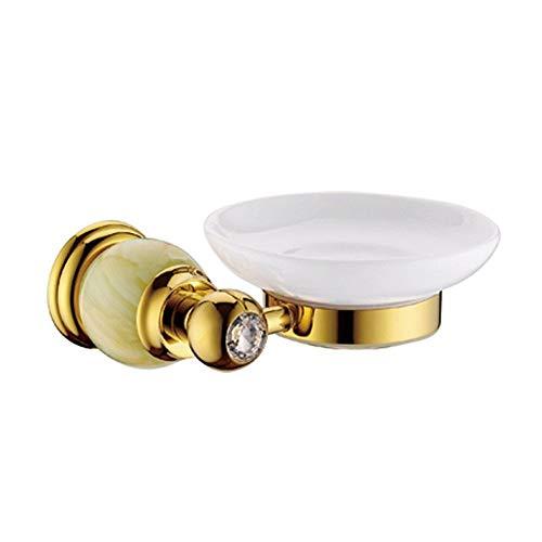 Brass Accents European Soap Dish - Ligsruise Golden Natural Jade SOAP NET, soap Holder, Titanium Gold SOAP Dish, European Soaps NET Copper SOAP Tray