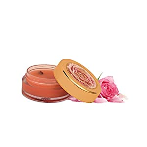 Khadi Essentials Wild Rose Lip Butter with Rose Petals, Cocoa Butter and Turmeric Oil, For Dry Chapped Lips and Lip…