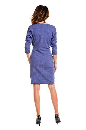 Strickkleid mit Marineblau Taschen mit Awama Strickkleid Awama Marineblau mit Taschen Marineblau Taschen Strickkleid Awama qnwEqgY5