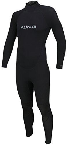 Aunua Men's 3/2mm Premium Neoprene Diving Suit Full Length Snorkeling Wetsuits(6031 Black L)