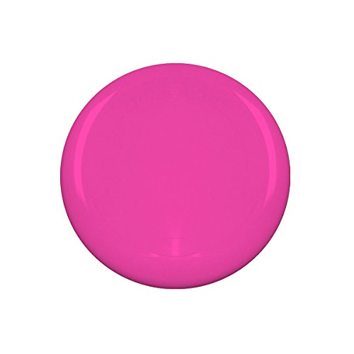 10'' Flying Frisbee Style Hard Plastic Disc - Pink - Promotional Product - Your Logo Imprinted (Case Pack of 100)