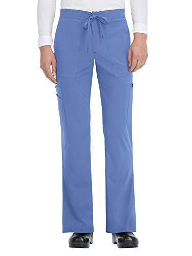 (KOI Basics 605 Men's Luke Scrub Pants True Ceil L)