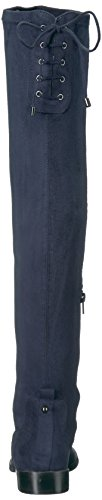 Kenneth Cole Womens Wind Chime Over The Knee Stretch Tacco Basso Invernale Boot Navy