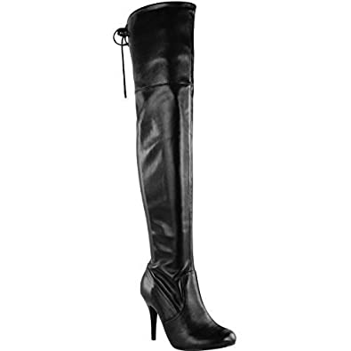 Amazon.com | Fashion Thirsty Womens Over The Knee Thigh High ...