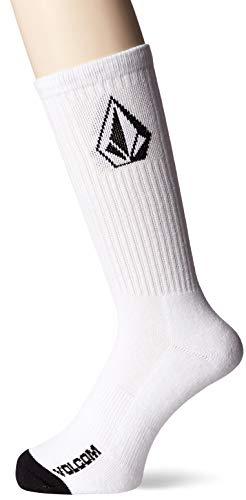 Volcom Men's Full Stone Sock 3-Pack, WHITE, 3 PACK