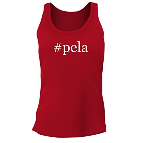 Tracy Gifts #Pela - Women's Junior Cut Hashtag Adult Tank Top, Red, XX-Large