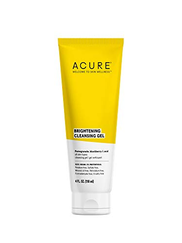 ACURE Brightening Cleansing Gel | 100% Vegan | For A Brighter Appearance | Pomegranate, Blackberry & Acai – Antioxidant…