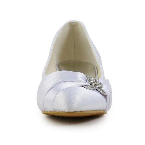 Escarpins Wedding 01121 mariée femme Blanc JIA mariage chaussures pour JIA de F6qBf0xw