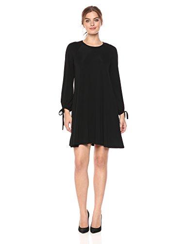 Karen Sleeve Tie Black Dress Black Swing Women's Kane rI4nrg