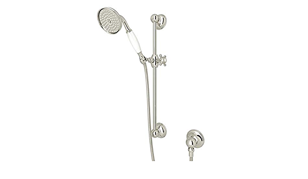 Rohl C7133PN Country Bath /& Country Kitchen Handshower Escutcheon Complete Handshower Holder with Base /& Mounting Nut Only for Four Hole Deck Tub Filler